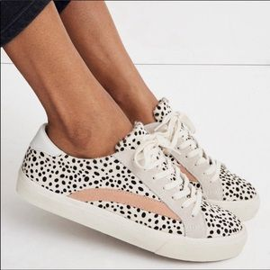 Madewell Calf Hair Spotted Sneakers Size 9.5